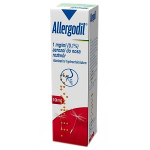 Allergodil 0.1% aerozol do nosa 10 ml
